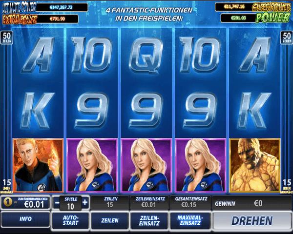 Fantastic Four Spielautomat von playtech