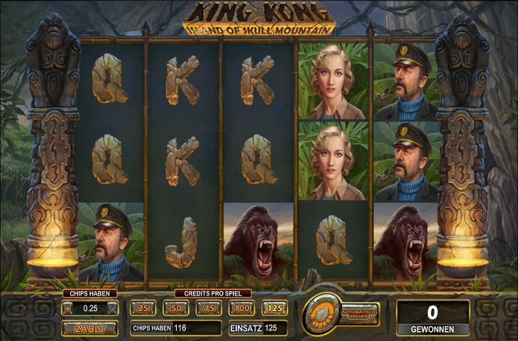 King Kong Island of Skull Mountain Spielautomat