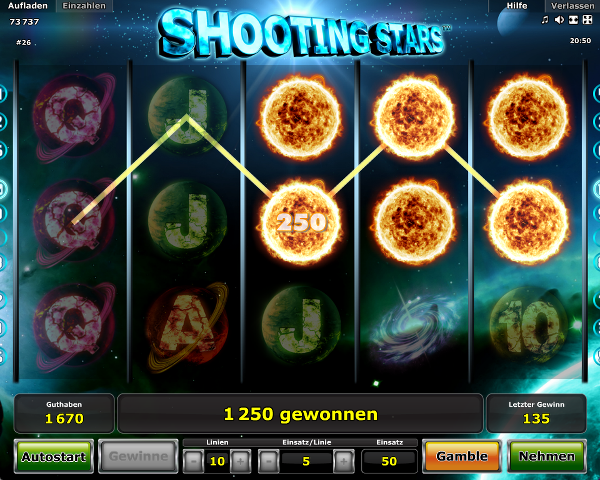 shooting stars spielen