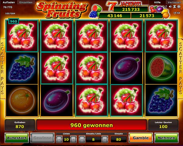 Novoline_Spielautomat_Spinning_Fruits