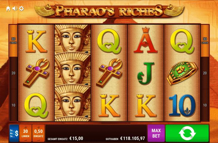 Pharaos Riches - 5 Walzen - Legal online spielen OnlineCasino Deutschland