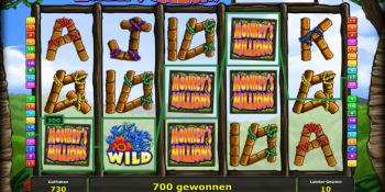 Der Spielautomat Monkey's Millions mit Jackpot