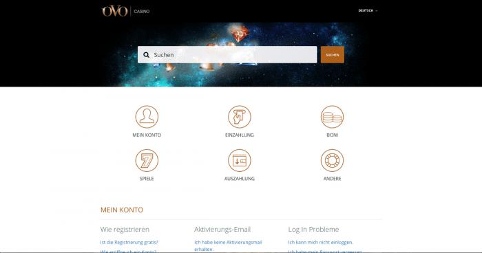 OVO Casino Kundenservice