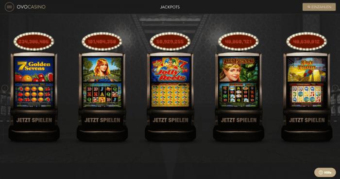OVO Casino Jackpots