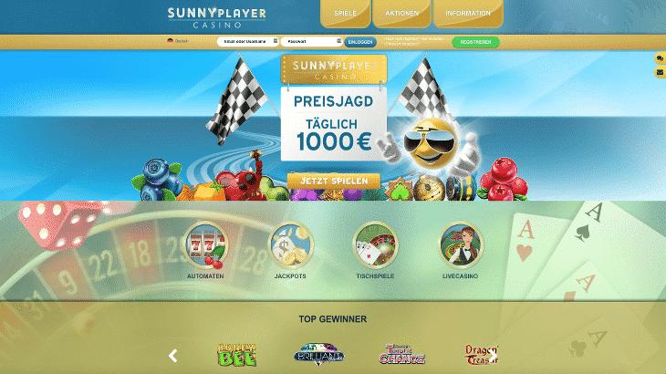 sunnyplayer_casino_startbildschirm