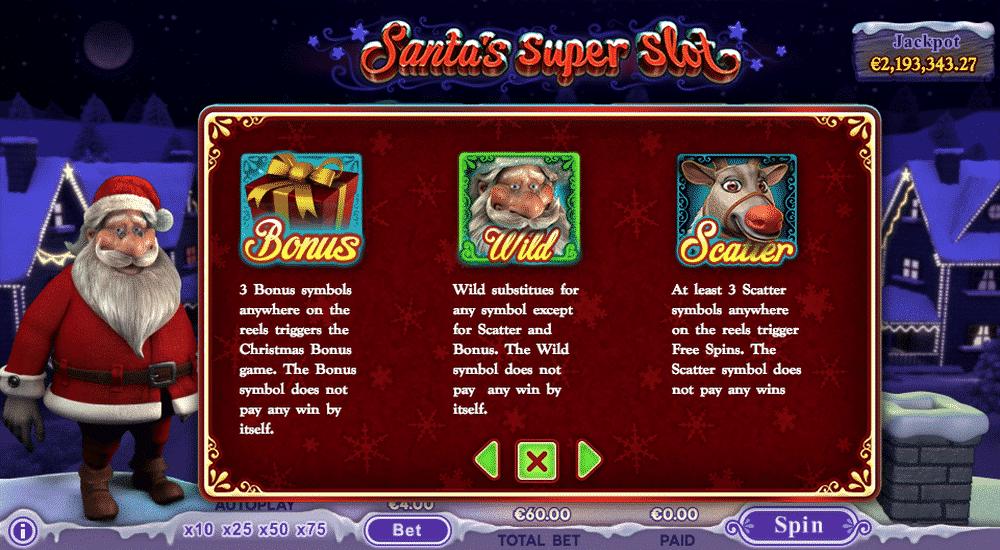 Santa\'s Super Slot mit Jackpot