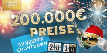 Das Sunnyplayer Casino verlost bis Neujahr 200.000 €