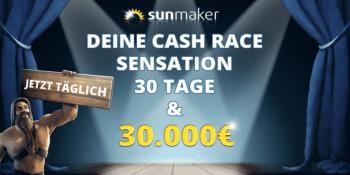 Das 30.000 € Cash Race im Sunmaker Casino