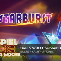 Das Spiel der Woche im LVBet Casino ist Starburst