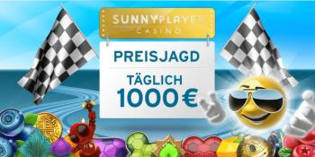 Die tägliche Preisjagd im Sunnyplayer Casino geht weiter