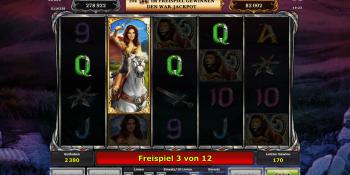 Zenia Queen of War mit Jackpot