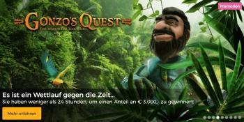 Gonzo's Quest spielen und einen Anteil an 3.000 Euro gewinnen