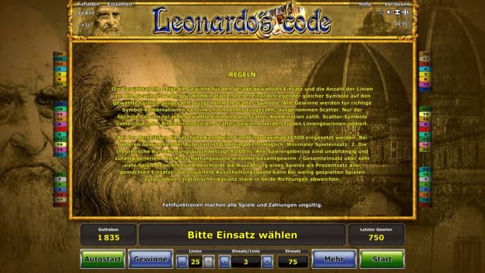 novoline code